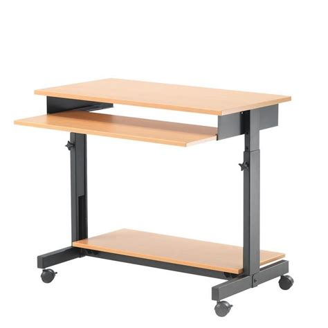 Height Adjustable Computer Workstation Aj Products Adjustable Height Computer Desk Workstation
