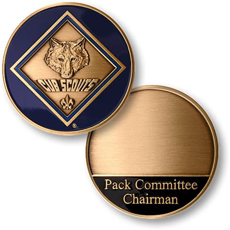 cub scouts 174 pack committee chairman coin