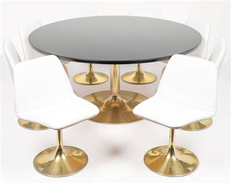 Tulip Table And Chair Dining Set At 1stdibs Tulip Dining Table And Chairs