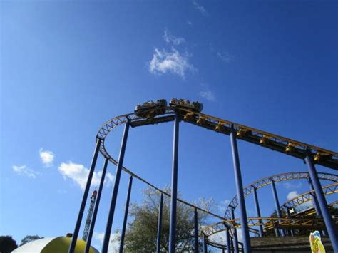 the roller coaster at flambards theme park near helston the hornet picture of flambards theme park helston