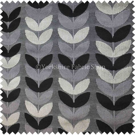 geometric pattern upholstery geometric leaf pattern fabric black grey colours velvet