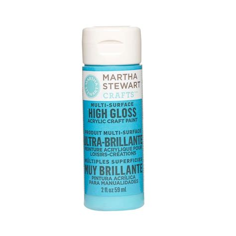 martha stewart crafts 2 oz pond multi surface high gloss acrylic craft paint 32087 the home depot