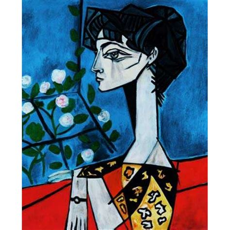 picasso paintings of jacqueline picasso pablo portrait of jacqueline roque signed and