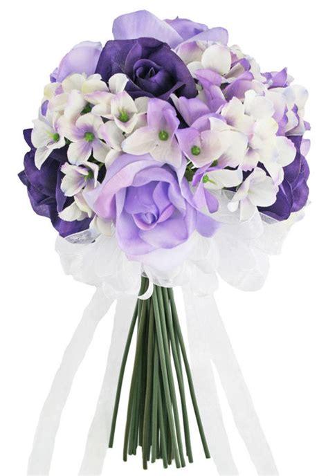 purple flower wedding bouquet photos hydrangea purple lavender tie small silk bridal wedding bouquet