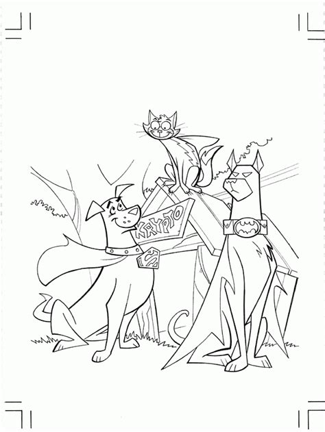superdog coloring page krypto the superdog coloring pages coloring home