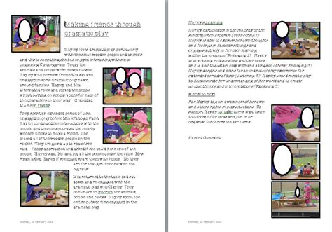 academic portfolio template academic portfolio template ece learning another learning story exle australian national