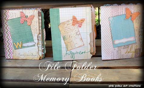 memory picture book file folder memory books archives pink polka dot creations