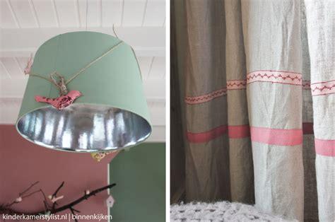antiek groene gordijnen meidenkamer huis grietje rianne kinderkamerstylist
