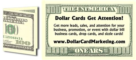 100 dollar bill business card best business cards