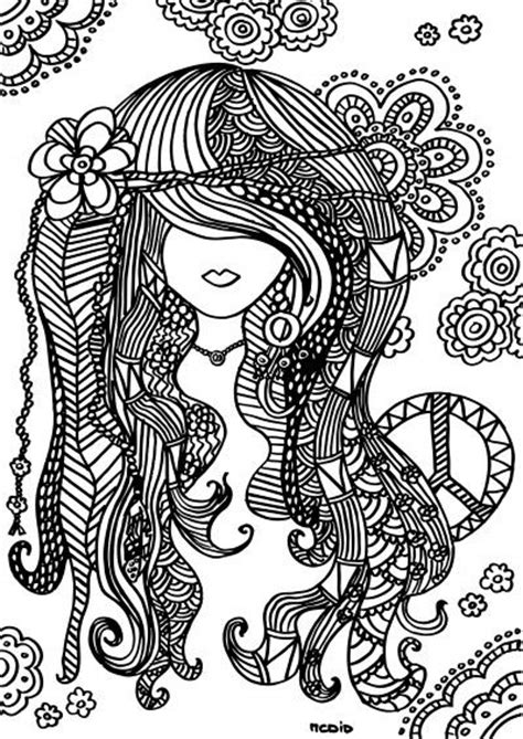 hair dreams coloring book for adults books free printable coloring page doodles