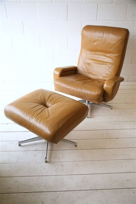 swivel chair and stool 1970s leather swivel chair and stool and chrome