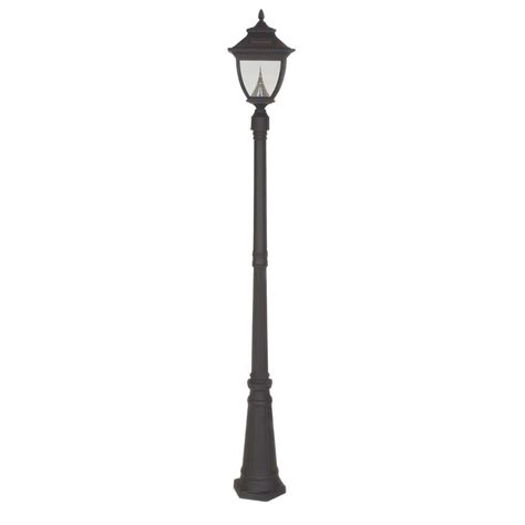 Outdoor Solar Post Light Gama Sonic Pagoda Solar Black Outdoor L Post Gs 104s The Home Depot