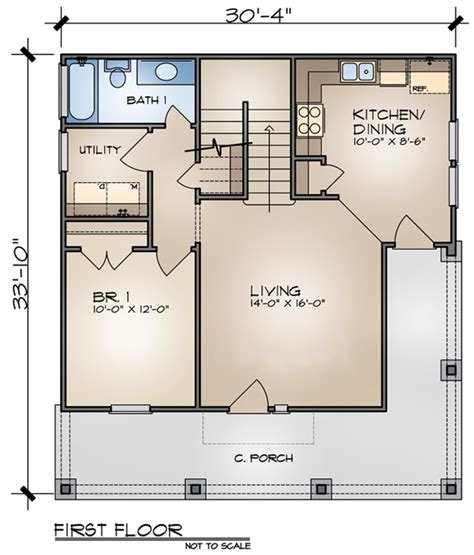 small open space house plans house plan of the week small cottage home the house designers