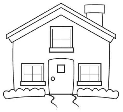 imagenes faciles para dibujar de casas dibujos para colorear de casas