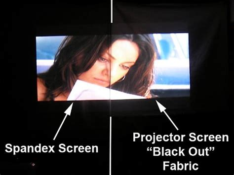 portable spandex projector screen complete kit