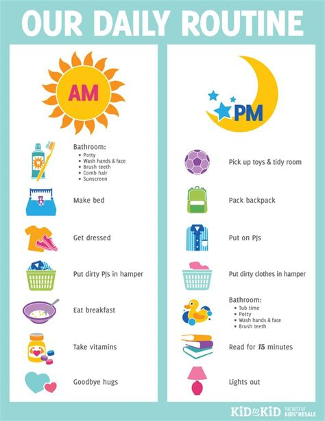 my daily schedule printable 25 best ideas about kids routine chart on pinterest