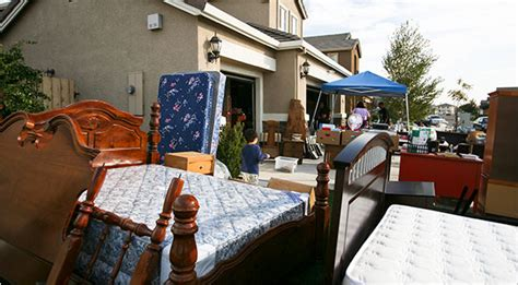 Garage Sales Ny As Yard Sales Boom In Times Sentiment Is Thing