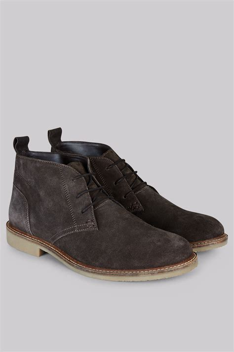 moss brown suede desert boots