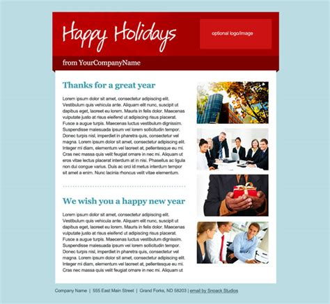 Happy Holidays Email Templates by Happy Holidays Email Template Snoack Studios