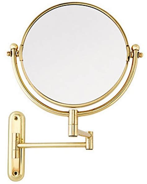swing arm mirror solid brass swing arm rotating mirror by taymor in makeup