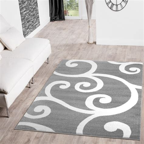Teppiche Weiss Grau teppiche modern floral muster in grau wei 223 creme