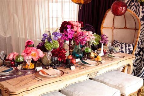 bridal shower dinner table inspired by this bohemian rehearsal dinner idea inspired