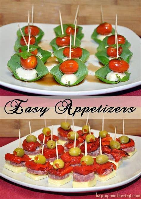 easy appetizers caprese and antipasto skewers