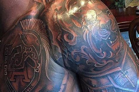 body tattoo new adrian peterson shows off impressive new upper body tattoo
