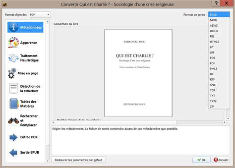 format epub lecteur convertir un fichier pdf au format epub pour votre liseuse