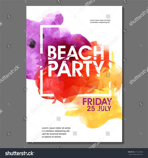Summer Night Party Vector Flyer Template Stock Vector 271234658 Shutterstock Graphic Design Poster Templates