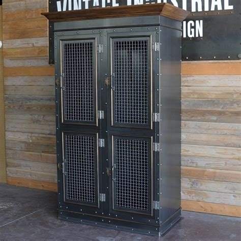 Vintage Industrial Armoire   Vintage Industrial Furniture