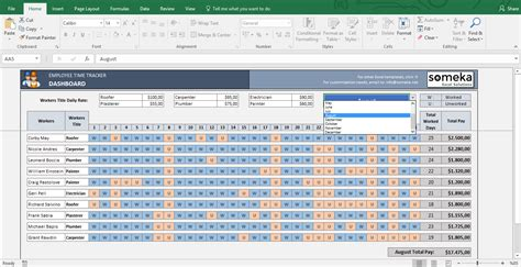 Employee Time Tracking Template payroll template excel timesheet free