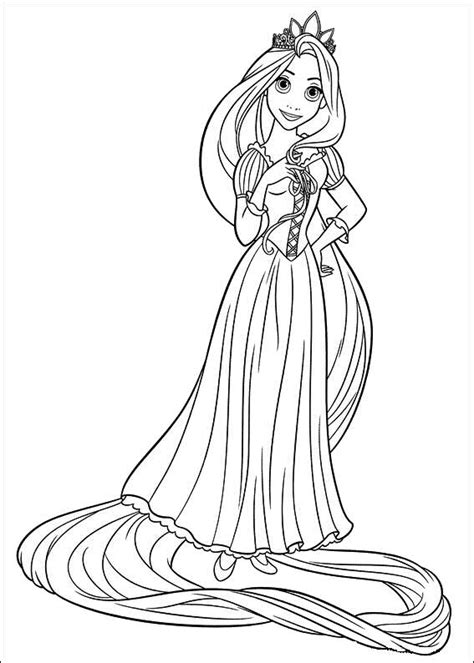 Rapunzel Printable Coloring Pages rapunzel tangled coloring pages best gift ideas