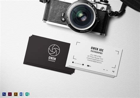 Creative Photography Business Cards 31 Exles Card Templates For Photographers