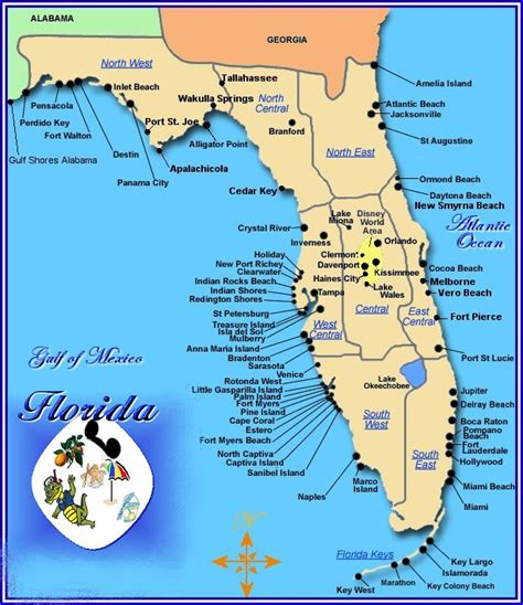 map of florida gulf coast map of gulf coast florida cities images
