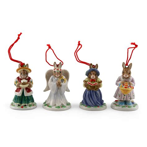 royal doulton bunnykins holiday ornaments set b