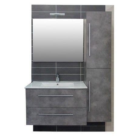 meuble salle de bain effet beton idees decoration idees decoration