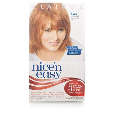 how to use nice n easy hair color nice n easy natural golden auburn permanent hair colour