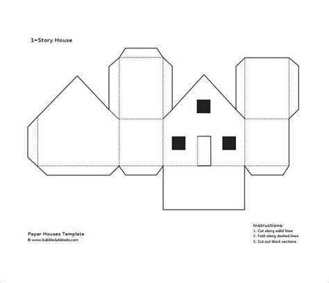paper house templates to print paper house printable template s 248 k zima