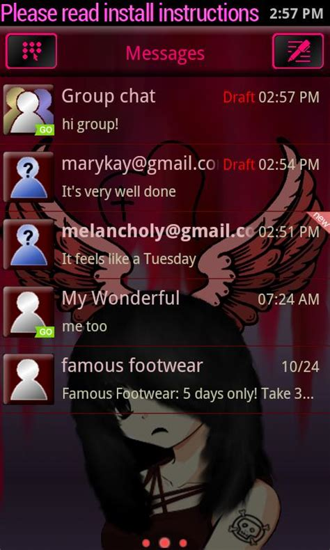 download emo themes for android emo angel theme for go sms android apps on google play