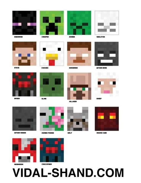printable enderman mask minecraft masks quot mobs quot included in the diy set done for