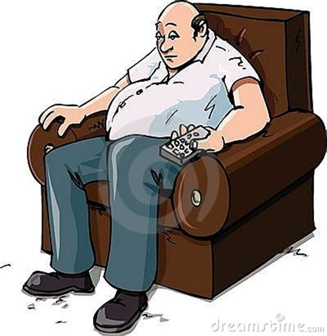 couch potato cartoon cartoon of a couch potatoe royalty free stock images