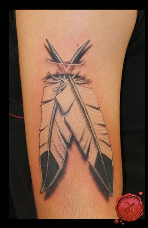 tribal eagle feather tattoo feather tattoos for ideas and designs for guys