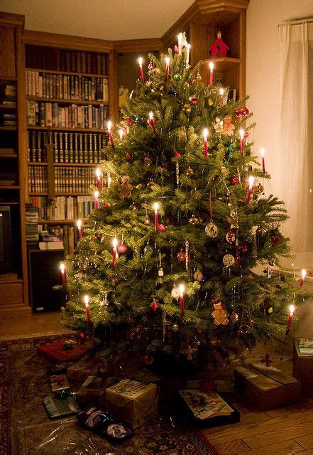 candles on christmas tree christmas pinterest