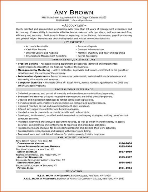 5  senior accountant resume   Budget Template Letter