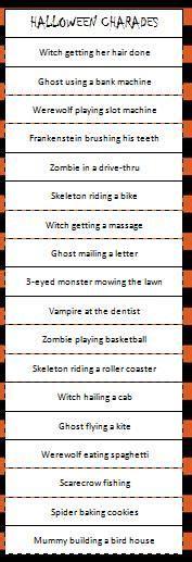 halloween charades free printable halloween game the halloween on pinterest halloween party halloween treats
