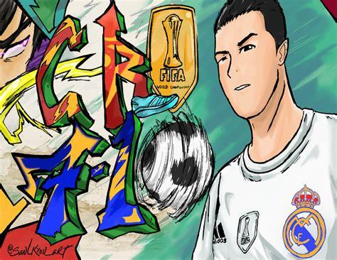 Lukisan Dinding Canvas Cristiano Ronaldo Model 1 No Frame ronaldo graffiti by koujaryn on deviantart