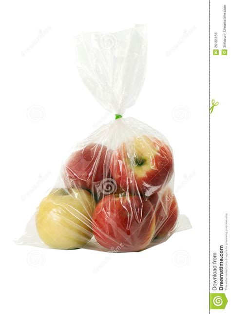 Plastik Warp apple with plastic warp stock photo image of juice furl