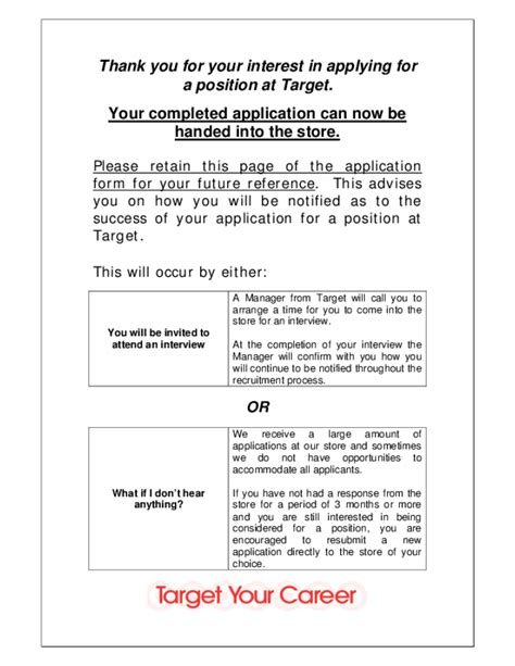target application form free printable target application form page 5