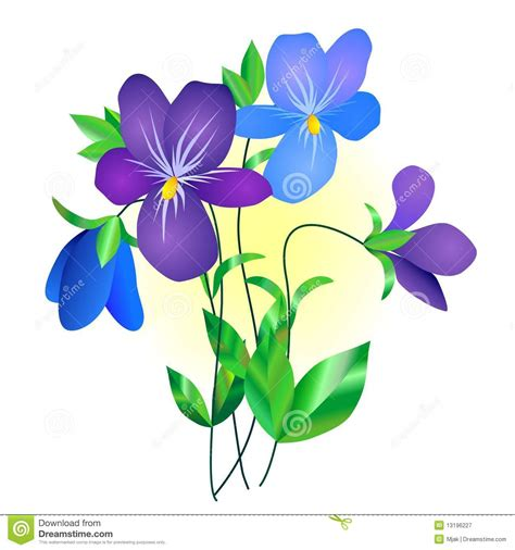 violet clipart violet clipart violet flower pencil and in color violet